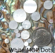 White Mother of Pearl Inlay Dots