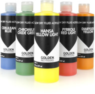 Golden Pro Finishes Slow-Drying Fluid Acrylics