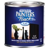 Rust-Oleum Painter's Touch Latex Paint Flat Black 1/2 Pint