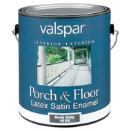 Valspar Porch and Floor Latex Satin Enamel Dark Gray Gallon