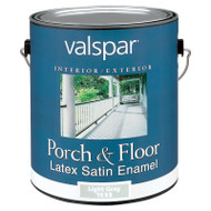 Valspar Porch and Floor Latex Satin Enamel Light Gray