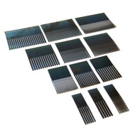 Blue Steel Graining Combs Set of 12