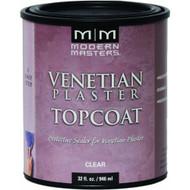 Modern Masters VP300-32 Venetian Plaster Satin Topcoat Clear Quart