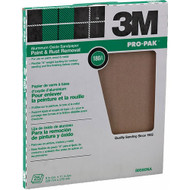 "3M 88590NA Aluminum Oxide Sheets for Paint and Rust Removal, 9"" X 11"", 180A-Grit 25-Pack"