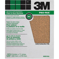 """3M 88591 Aluminum Oxide Sheets for Paint and Rust Removal, 9"""" X 11"""", 60D-Grit 25-Pack"""
