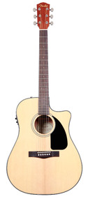 Fender CD-60CE Natural Acoustic Electric Guitar with Case