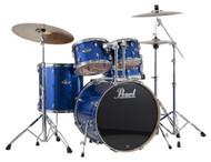 Pearl Export EXX725/C-702 Electric Sparkle Blue 5pc Kit w/Hardware