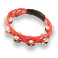 LP Cyclops® Jingle Tambourine, Steel Jingles, Red, Hand Held LP151