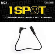 "Truetone MC1 12"" Extension Pedal Power Cable F-M 5.5 x 2.1mm"