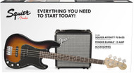 Fender Squier Affinity Series PJ Bass Guitar Package