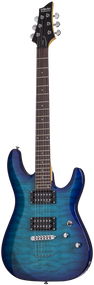 Schecter C-6 Plus Ocean Blue Burst