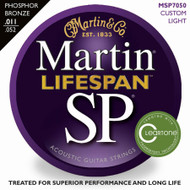 Martin MSP7050 SP Lifespan Phosphor Bronze Custom Light 11-52 Acoustic Guitar Strings