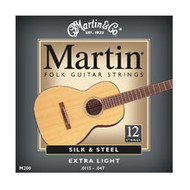 Martin M-200 Traditional Silk & Steel Folk 12-string Acoustic Guitar Strings
