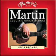 Martin M-140 Traditional 80/20 Bronze Light 12-54 Acoustic Guitar Strings