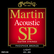 Martin MSP4100 SP Phosphor Bronze Light 12-54 Acoustic Guitar Strings