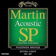 Martin MSP4000 SP Phosphor Bronze Extra Light 10-47 Acoustic Guitar Strings