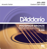 D'Addario EJ26 Phosphor Bronze Custom Light 11-52 Acoustic Guitar Strings