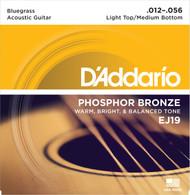 D'Addario EJ19 Phosphor Bronze Bluegrass 12-56 Acoustic Guitar Strings