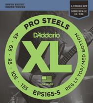 D'Addario EPS165-5 ProSteel Custom Light 45-135 5-String Bass Guitar Strings