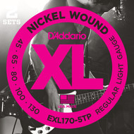 D'Addario EXL170-5TP Nickel Light 45-130 5-String Bass Guitar Strings 2 Sets