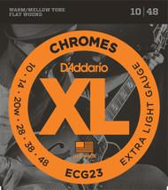 D'Addario ECG23 Chromes Flat Wound 10-48 Electric Guitar Strings