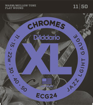 D'Addario ECG24 Chromes Flat Wound 11-50 Electric Guitar Strings