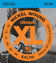 D'Addario EXL110 Nickel Light 10-46 Electric Guitar Strings