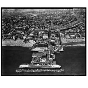 "Venice Pier Photo, circa 1930's, Original Photo, 42"" x 35"", framed"