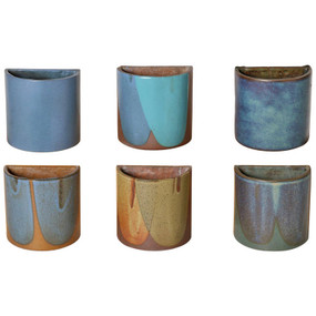 Ultra Rare David Cressey Set of Six, 1970s Stoneware Planters