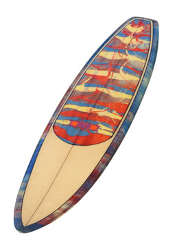 "Transitional Dewey Weber ""SKI"" Surfboard, Manhattan Beach, CA, 1969"