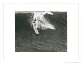Surfer on Wave, Black and White Photograph, Framed