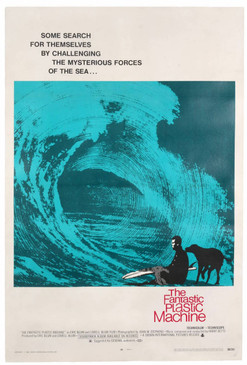 Vintage Surf Movie Poster, the Fantastic Plastic Machine, 1969