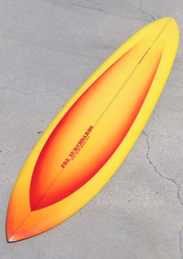 1970's Fox Surfboard by John Parton, Original