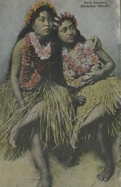 """""""Hula Dancers"""" Pre-1920s Postcard"""