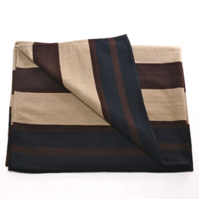 Merino Wool Wide Stripe Chief's Blanket, Handmade