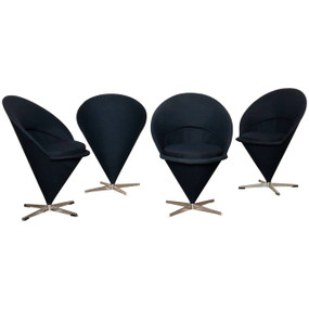 "Four Original 1950s Verner Panton ""K1 Cone Chairs"""