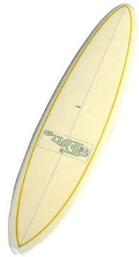 1965 Bing Foil Clear Deck Surfboard, Glassed-in Fin, Rare
