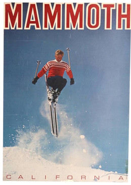 All Original Mammoth California Ski Poster, circa 1955
