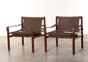 Arne Norell Sirocco, Safari Chair Pair