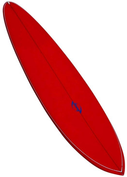 All Original 1970s Bing Rounded Pintail Surfboard, Cherry Red