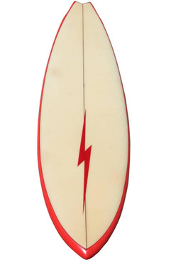 1975 Lightning Bolt Surfboard, Shaped by Terry Martin