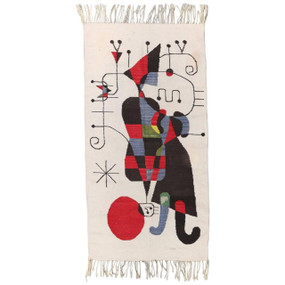 Joan Miró Inspired Woven Tapestry