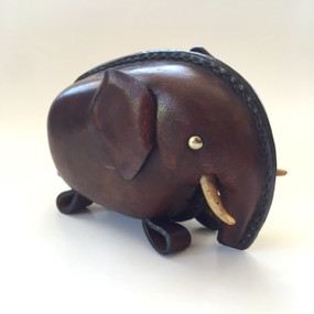 Leather Elephant Piggy Bank