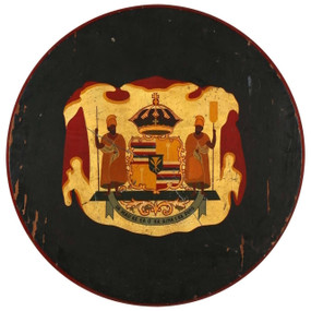 Hawaiian Royal Crest Plaque, circa 1890s-1920s