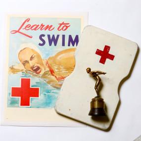 Swimming Memorabilia, Poster, Trophy, Kickboard