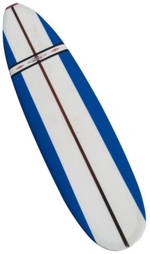 Jacobs Surfboard Fully Restored, Blue, White and Red, Early 1960s