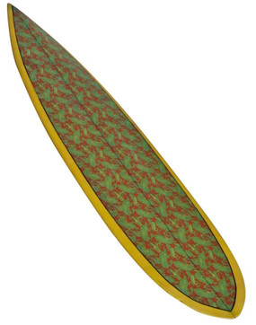 Hawaiian Gun Surfboard with Paisley Design, 1960s