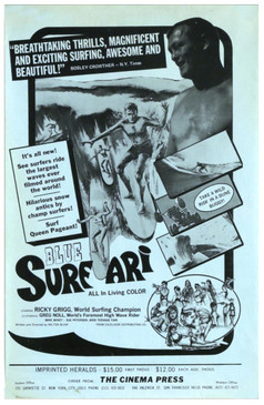 """Blue Safari"" Original Vintage Surf Poster"