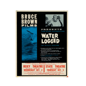 """""""Water Logged"""" a film by Bruce Brown Vintage Surf Poster, 1962"""