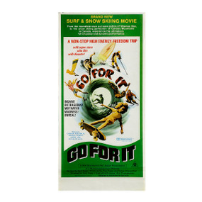 "Surf, Ski, Skate ""Go For It""  Vintage Poster 1970s"